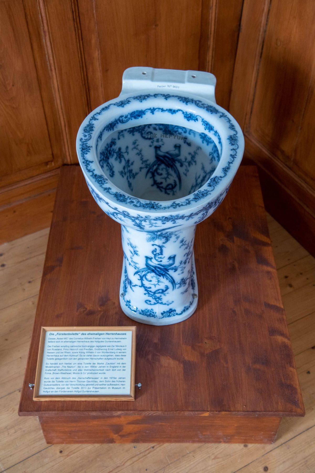 Englische Nobel-Toilette im Heimatmuseum
