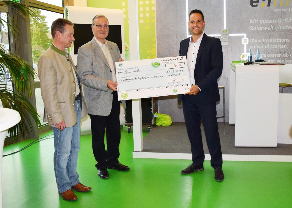 Eprimo würdigt Arbeit des Fördervereins Hofgut Guntershausen e.V.