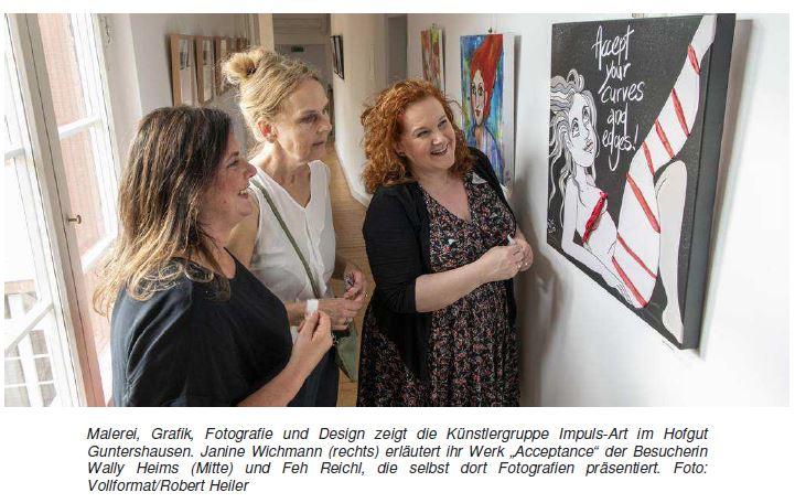 Ried-Echo vom 3.6.2019: Künstlergruppe Impuls-Art eröffnet Schau in Guntershausen