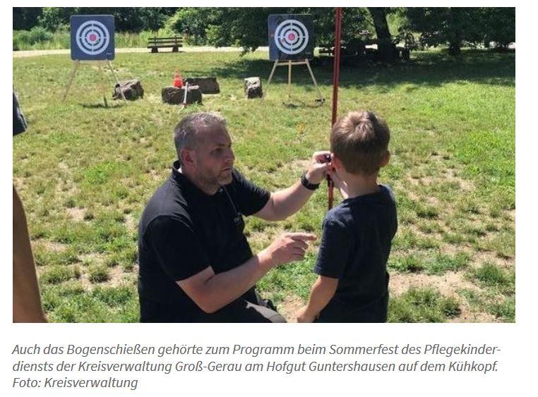 Auf der Jagd nach Wild Billy Bull Pflegefamilien-Sommerfest im Hofgut Guntershausen