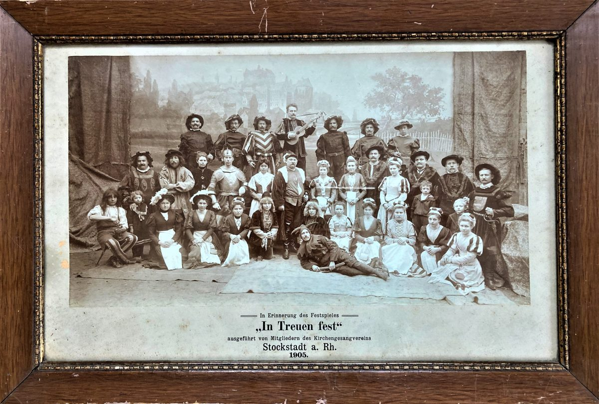 Festspiel des Stockstädter Kirchengesangvereins im Jahr 1904